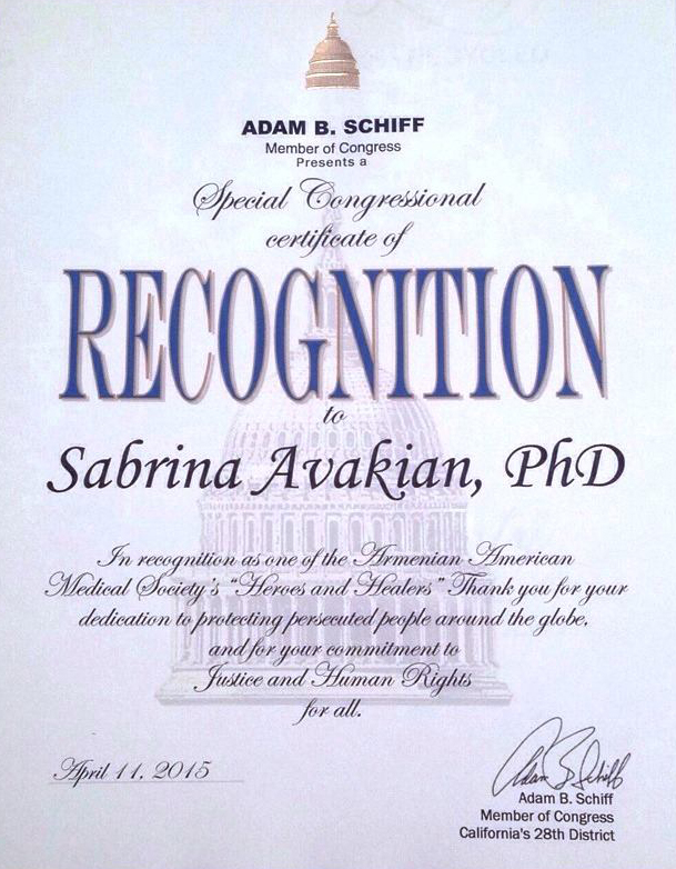recognition Avakian